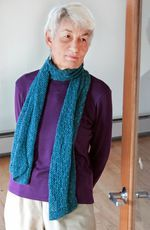 Heirloom Lace Scarf in Signature Block Island Blend (image D)