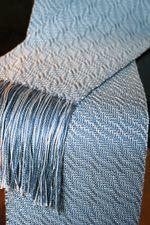 Snow Crystal Shadow Weave Scarf in Gemstone Silk (image A)