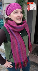 Chill Chaser Woven Scarf  Pattern Download (image A)