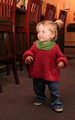 Back Zip Baby Jacket (image A)
