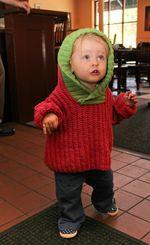 Back Zip Baby Jacket (image C)
