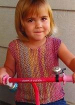 Side to Side Pullover for Girls by Knitting Pure and Simple (image A)