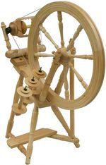 Kromski Interlude Spinning Wheel, Mahogany (image B)