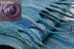 Silk Merino Scarf Kit - Black Currant  from Ashford (image B)