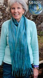 Silk Merino Scarf Kit - Ocean from Ashford (image A)