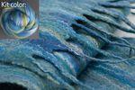 Silk Merino Scarf Kit - Ocean from Ashford (image B)