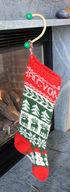 Sock Hook Natural Red Knob Christmas Stocking Holder (image A)