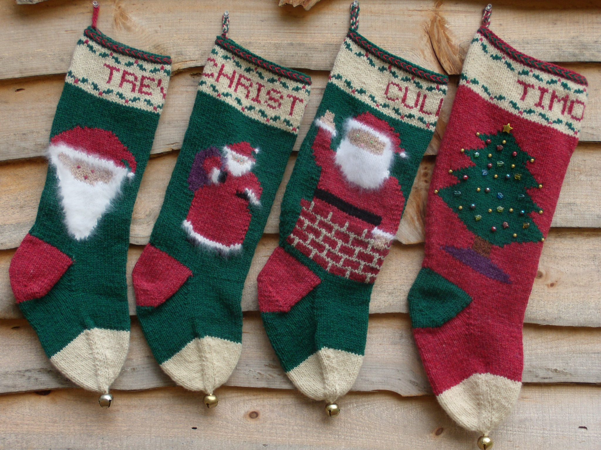 db772311a71 I must admit I feel pretty good having continued a family tradition. The  two collections of stockings are similar yet just a little different.