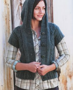 Heather Hoodie Vest