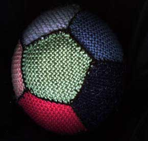 Soccer Ball Knitting Pattern : Knitting for sports   free patterns, ideas, and color matching! College and p...