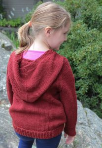 Hooded sweater classic: Wonderful Wallaby knitting pattern ...