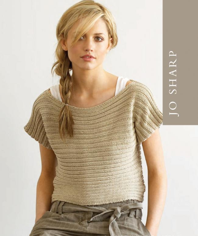 Sideways Ribbed Top pattern