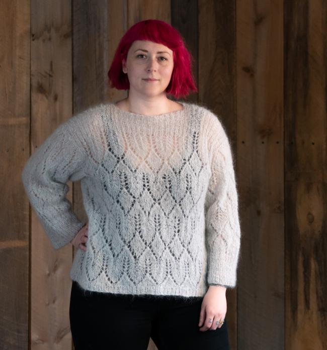 bdc1a27e7 New sweater pattern! Atmosphere mohair lace pullover Halcyon Yarn ...