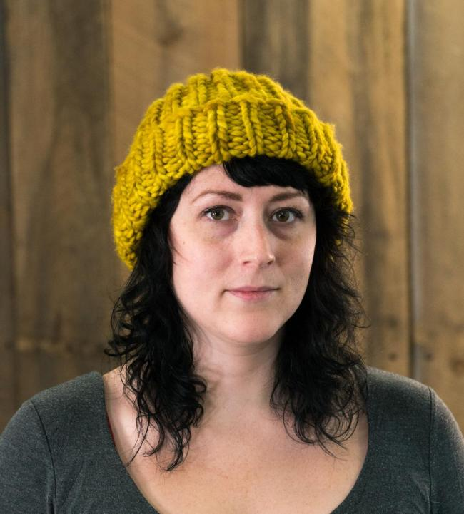 chunky knitted ribbed merino hat